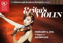 The Peterborough Symphony Orchestra welcomes acclaimed violinist Erika Raum for a performance of her mother's beautiful and dramatic Concerto for Violin (Faces of Woman)