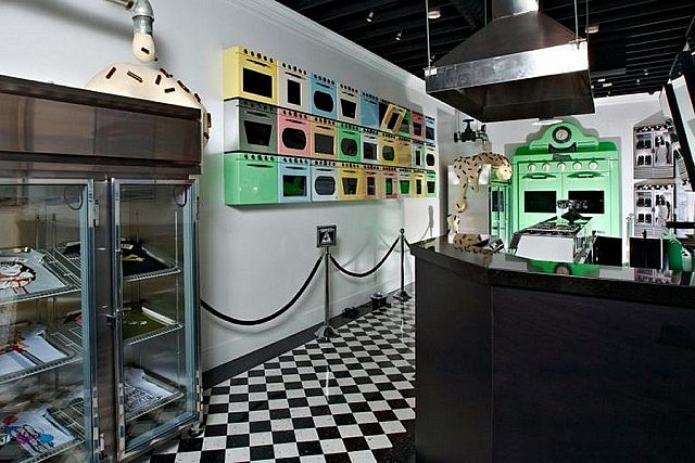 The retail outlets of Johnny Cupcakes clothing line are designed to look like actual bakeries