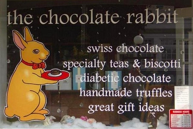 The Chocolate Rabbit in Lakefield makes their hot chocolate using high-quality couverture chocolate (photo courtesy of The Chocolate Rabbit)