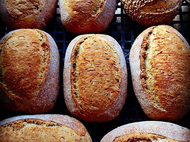 There's still plenty to eat at the Peterborough Farmer's Market every Saturday at Morrow Park, including bread from Hard Winter Bread Company (photo courtesy of Hard Winter Bread Company)
