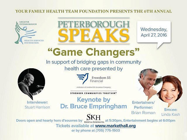The 6th Annual Peterborough SPEAKS takes place on Wednesday, April 27 at the Market Hall in Peterborough