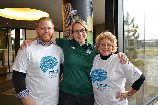 Dr. Mark Skinner (founding director of the Centre for Aging and Society at Trent University), Julianna Stonehouse (fitness and lifestyle coordinator at the Trent Athletic Centre), and Susan Dunkley (fund development coordinator at the Alzheimer Society PKLNH)