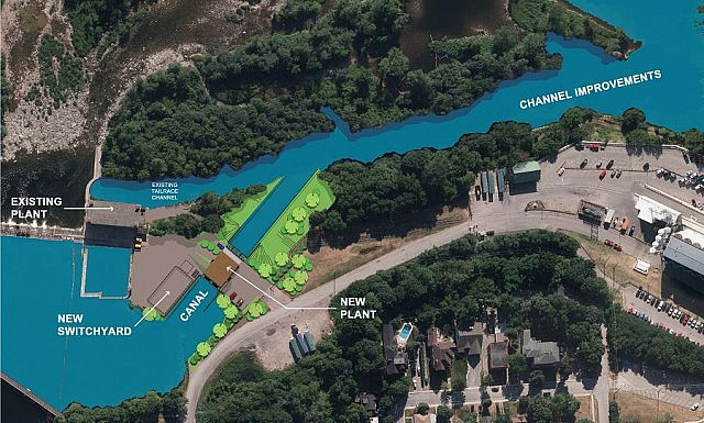 A rendering of the project site (graphic: Peterborough Utilities Group)