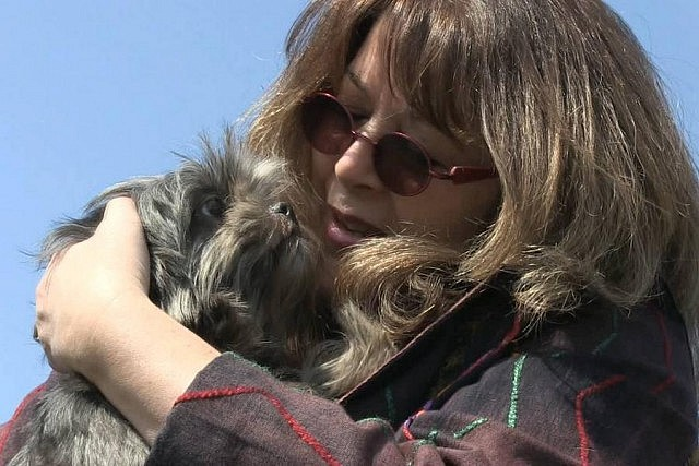 Mary Giuffre with Ruby, who she rescued after six years in a puppy mill. Ruby died two years after being rescued.