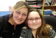 Shari with her 10-year-old daughter Tanna, who lives with a form of childhood arthritis that prevents her from doing the things kids normally do. To help raise funds and awareness for children like Tanna, The Arthritis Society is hosting a gala fundraiser on Saturday, March 5, at the Canadian Canoe Museum. (Photo: Paul Rellinger / kawarthaNOW)