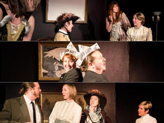 """The Theatre on King in Peterborough presents three one-act plays by Alice Gerstenberg: """"Overtones"""", """"The Illuminati in Dramatis Libre"""", and """"He Said and She Said"""" (photos: Andy Carroll)"""