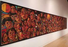 """This mural, entitled """"The Beauty of Our People"""", is one of the works by Arthur Shilling currently on display at the Art Gallery of Peterborough (photo: Art Gallery of Peterborough / Facebook)"""