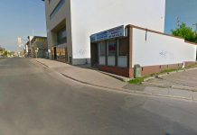 This wall at H.E.L.P. on Simcoe and Queen Streets in downtown Peterborough will be the first site for a public mural in a joint project with the City of Peterborough's Public Art Program and the Peterborough Downtown Business Improvement Area (photo: Google Street View)