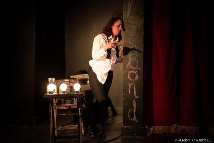"""The Theatre on King in downtown Peterborough is transformed into The Vagabond Theatre in Cathy Petch's new show """"Mel Malarkey Gets the Bum's Rush"""""""