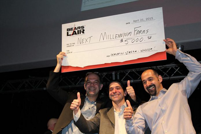 Entomo Farms (formerly Next Millennium Farms) was the grand prize winner in the innovation category at the 2015 Bears' Lair entrepreneurial competition. The company was founded in 2014 by brothers Jarrod, Ryan, and Darren Goldin. (Photo: Bears' Lair)