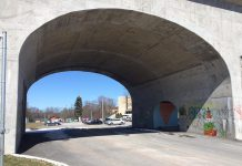 Artspace has issued a call for proposals for the second public art mural of The Hunter Street Bridge Mural Project. The mural will be located on the structural walls and vault ceiling of the archway over the road linking James Stevenson Park with Quaker Park.