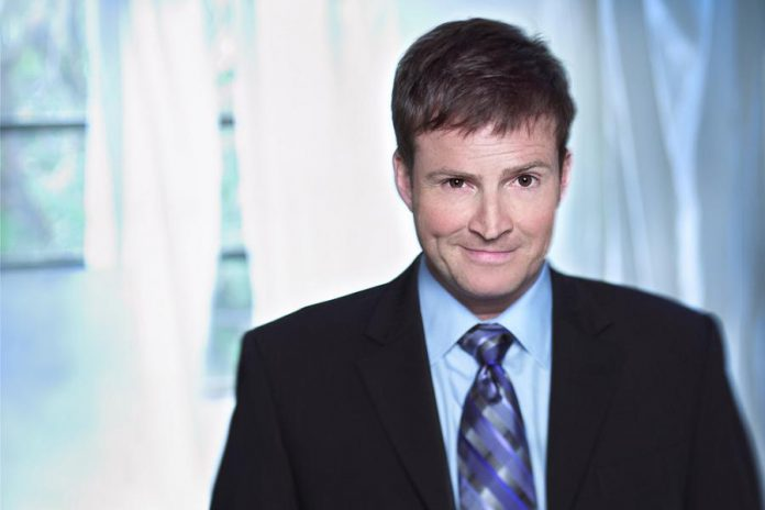 """Comic Steve Patterson, host of """"The Debaters"""" taping at Showplace Performance Centre in Peterborough on May 17 (photo: CBC Radio One)"""