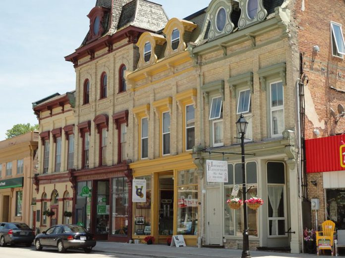 While a portion of King Street in downtown Millbrook undergoes reconstruction, merchants remain open for business (photo courtesy of the Township of Cavan Monaghan)