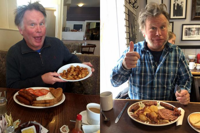 In this four-part series, food writer Eva Fiaher's dad Washboard Hank is your guide to the best breakfasts in Peterborough (photos: Eva Fisher / kawarthaNOW)