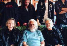 Musical generations (front to back) Gordon Lightfoot, Ronnie Hawkins, Kris Kristofferson, Robin Hawkins, Ryan Weber, James McKenty, and Sam Weber (photo: Leah Hawk / Facebook)