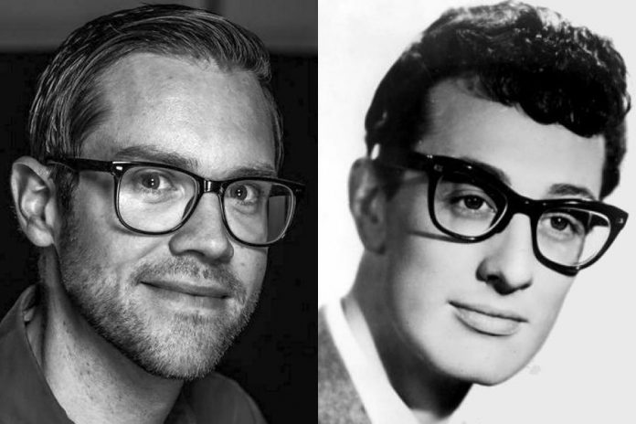 """Matt Diamond performs as Buddy Holly in """"Buddy - The Buddy Holly Story"""" from May 6-14 at Showplace Performance Centre in Peterborough (photo of Matt: John Gearin)"""