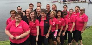 Jeanne Pengelly (far right) is a member of the Peterborough Pop Ensemble, pictured here preparing to sing at the Flower Ceremony at Peterborough's Dragon Boat Festival (which they've done every year since 2008). While she was at this year's festival, she asked a number of people why it's important to them. (Photo courtesy of Peterborough Pop Ensemble)