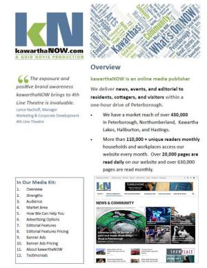 kawarthaNOW.com Media Kit