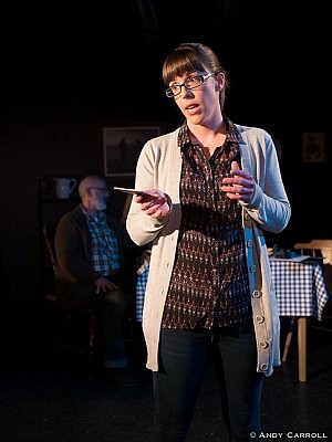 Lindsay Unterlander shines in the lead role of scientist Chris Cameron (photo: Andy Carroll)