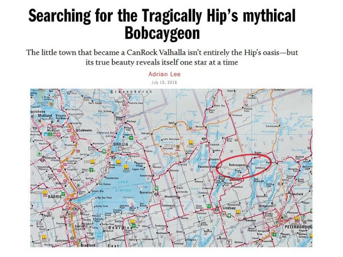 Writer Adrian Lee profiles the town of Bobcaygeon in the digital edition of Maclean's magazine