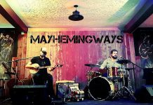 Back home from their cross-Canada tour, Peterborough's fuzz-folk duo Mayhemingways (Benj Rowland and Josh Fewings) are performing at Muddy's Pit BBQ in Keene at 3 p.m. on Sunday, July 31 (photo: Mayhemingways / Facebook)