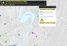 The interactive construction project map is available on the City of Peterborough's website