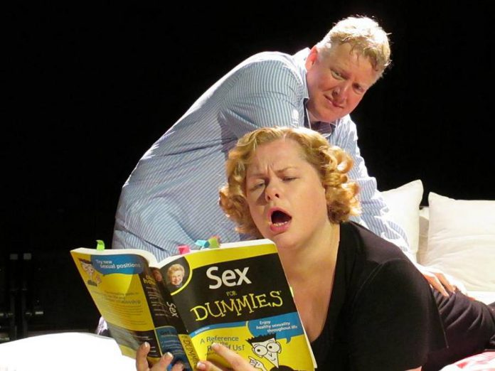 """Sarah and James starring in the 2013 production """"Sexy Laundry"""""""