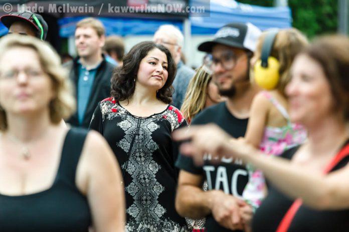 Peterborough-Kawartha MP Maryam Monsef in the audience enjoying the music (photo: Linda McIlwain / kawarthaNOW.com)