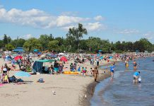 A view of Victoria Beach on Lake Ontario in Cobourg (photo courtesy of Linda McIlwain)