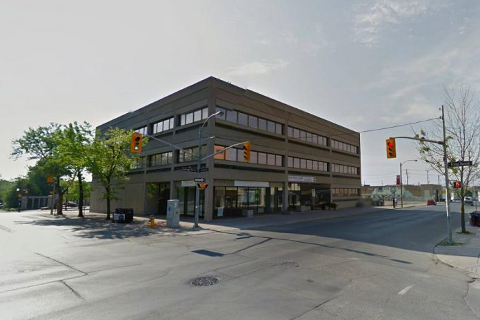The 38,000-square-foot former Promenade Building in downtown Peterborough will be transformed into the VentureNorth business hub (photo: Google Maps)