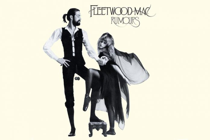 "The iconic cover of Fleetwood Mac's ""Rumours"". The photograph was taken by late rock and roll photographer Herbert Worthington, who was well known for his photos of the band"