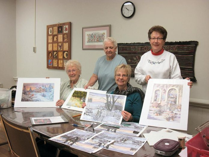Among its many program offerings this fall for people 50 and over, Activity Haven offers arts instruction including watercolour and oil painting, quilting, Bunka embrodiery, Swedish weaving, digital photography, and more (photo courtesy Activity Haven Seniors Centre)