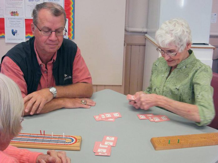 The social aspect makes card games like cribbage, euchre and bridge popular activities at Activity Haven (photo courtesy Activity Haven Seniors Centre)