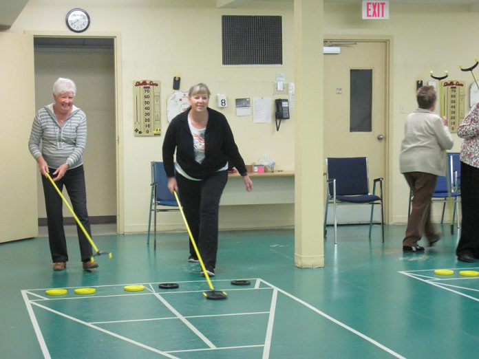 Shuffleboard is one of the daily activities available at Activity Haven (photo courtesy Activity Haven Seniors Centre)