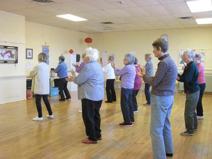 The center also offers several Tai Chi programs; the slow and graceful movements of Tai Chi make it an ideal low-impact exercise for older adults (photo courtesy Activity Haven Seniors Centre)