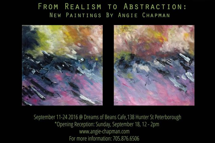 Dreams of Beans Cafe is hosting a solo art show by interior designer Angie Chapman (supplied graphic)