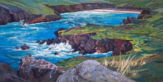 """""""Dingle Peninsula Series, 7""""  by Andrew Cheddie Sookrah  (photo: Gallery on the Lake)"""