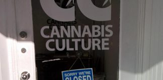 Cannabis Culture, a marijuana dispensary franchise in downtown Peterborough, is closed after police arrested the owner and an employee on September 15 (photo: kawarthaNOW)