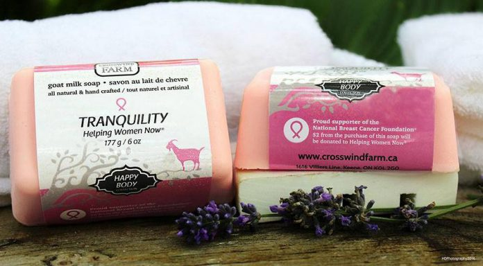 Tranquility is 100% natural and pure goat milk soap scented with essential oils chosen by Cindy's mother as the most healing for a cancer patient. (Photo: HDPhotography / Cross Wind Farms / Facebook)