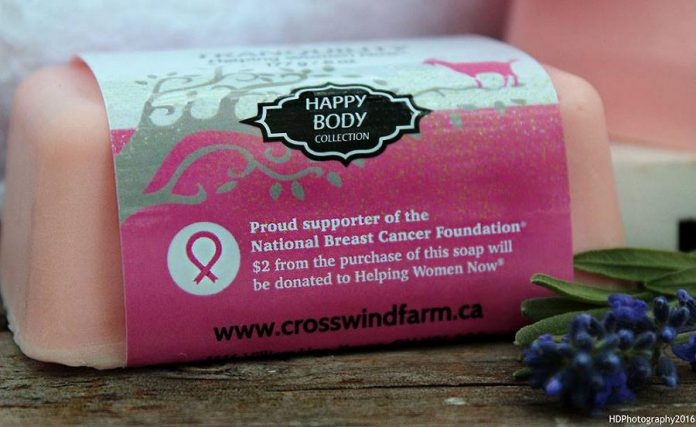 The soap is pink, the landmark colour for breast cancer. (Photo: HDPhotography / Cross Wind Farms / Facebook)