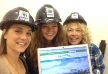 Habitat for Humanity gets into the #WealthofChoice selfie spirit for the Kawartha Chamber of Commerce and Tourism's $1,000 contest. Posting a selfie with the new website will get you an extra contest entry. (Photo: Habitat for Humanity Peterborough and District)