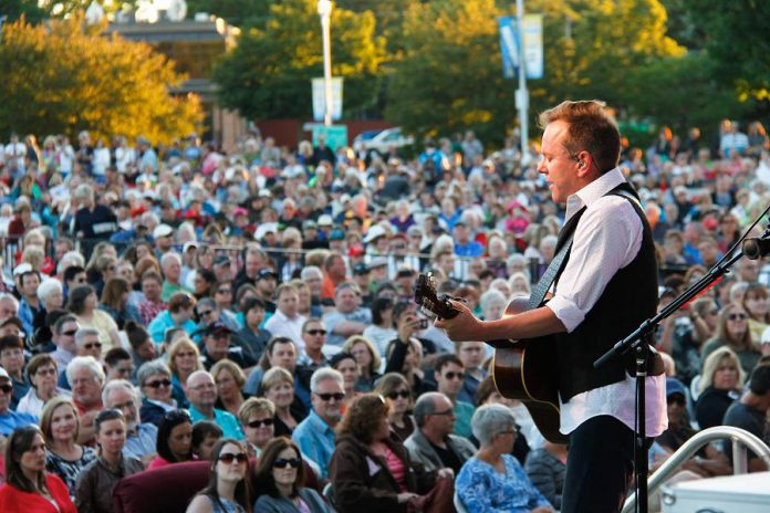Sutherland found out his childhood best friend was in the crowd in Del Crary Park at Peterborough Musicfest on June 29 (photo: Peterborough Musicfest)