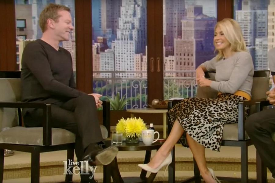 Kiefer Sutherland gives shoutout to Peterborough on Live with Kelly ...