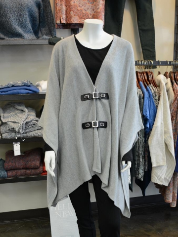 This poncho by Michael Kors is knit in a soft merino wool blend and can be thrown on for easy style. (Photo: Eva Fisher)