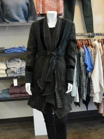 This opera coat by Boo Radley offers a more constructed look than some of the knitwear alternatives. (Photo: Eva Fisher)