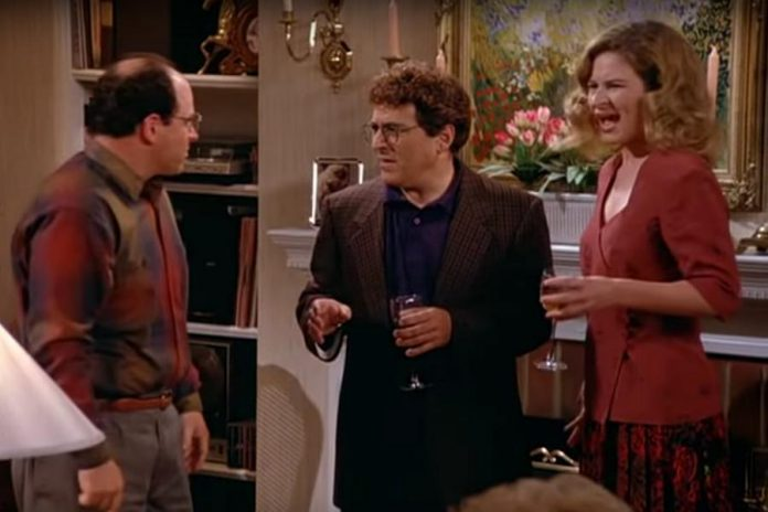 In the Seinfeld episode The Lip Reader, Kash performed as George's ex-girlfriend Gwen (here she reacts after George uses a lip reader to find out what she was saying from across the room)