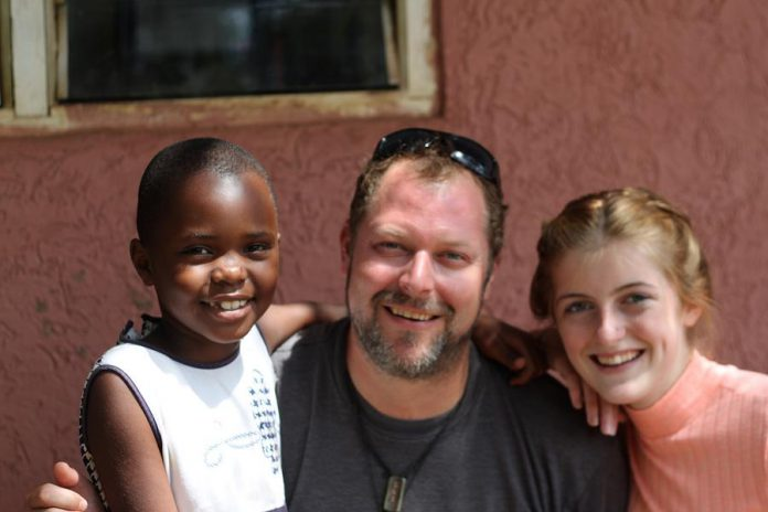 Michelle with father-and-daughter volunteers Kristian and Abigayle Partington (photo: Kristian Partington)