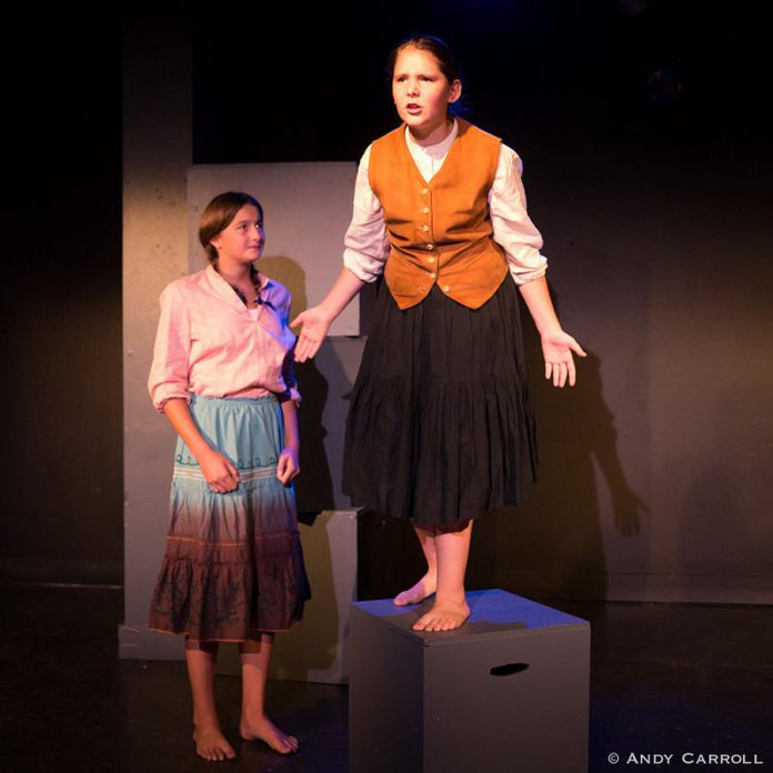 "Although it's a short one-act play, ""Voices"" gives both young actresses the chance to display their talents (photo: Andy Carroll)"
