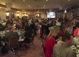 The sold-out 2016 Peterborough Business Excellence Awards took place at The Trentwinds International Centre on October 19 (photo: Peterborough Chamber of Commerce/ Twitter)