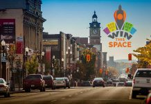The Peterborough DBIA announced the Win This Space entrepreneurial competition last week (photo/graphic: Peterborough DBIA)